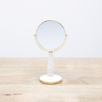 Creek Embossed Round Adjustable Table Mirror