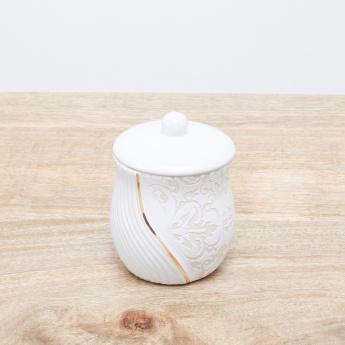 Creek Engraved Cotton Jar with Lid