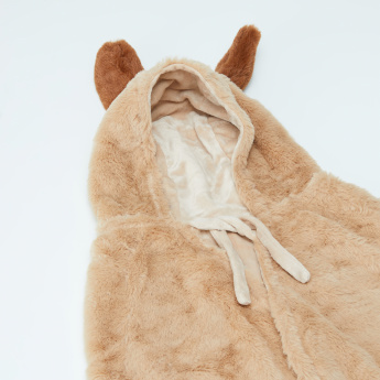 Akela's Plush Cloak with Applique Detail and Tie Ups