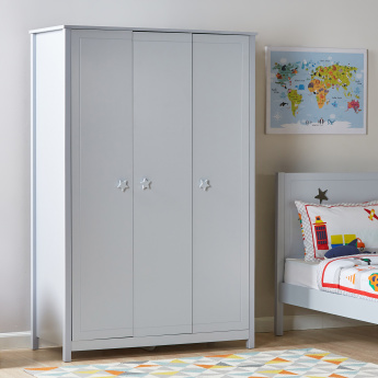 Oliver 3-Door Wardrobe with Shelf Storage