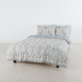 Eco Printed 3-Piece Super King Comforter Set - 250x260 cms