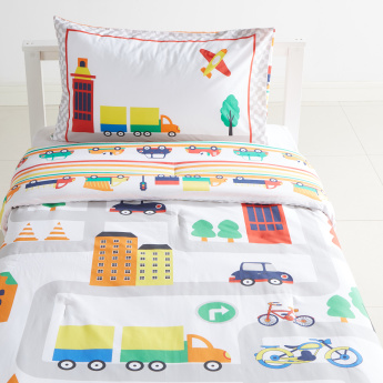 Brady Road Map Printed 2-Piece Comforter Set - 135x220 cms