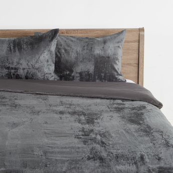 Luxury Velvet Textured 3-Piece Duvet Cover Set - 260x220 cms