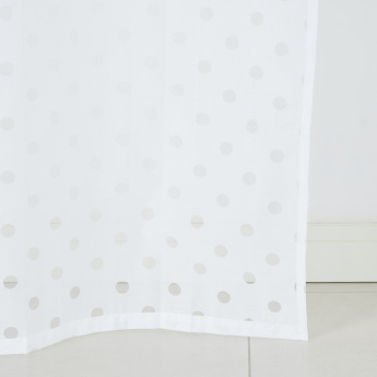 Candi Laser Burn Polka Dots Sheer Curtain Pair - 140x240 cms
