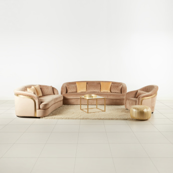Kenneth 3-Seater Sofa with Sloped Arms