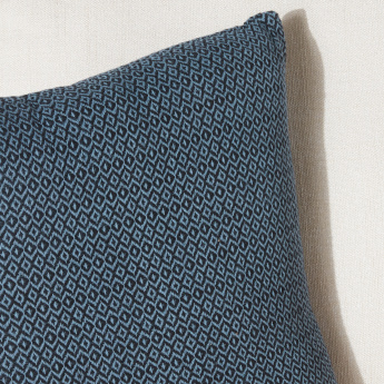 Diamond Dobby Textured Filled Cushion - 45x45 cms