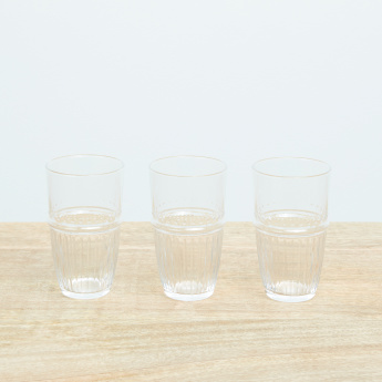 Louison Hiball Textured 3-Piece Tumbler Set - 350 ml