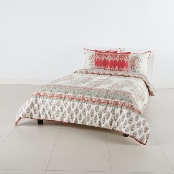 Mahogany Mughal Printed 5-Piece Full Comforter Set - 160x240 cms