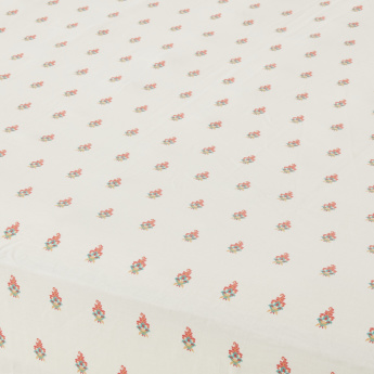 Mahogany Mughal Printed Full Fitted Sheet - 120x200 cms