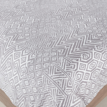 Aztec Jersey Printed  3-Piece King Duvet Cover Set - 230x220 cms