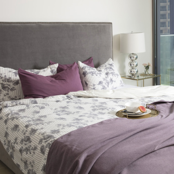 Urban Rose Printed 3-Piece Super King Duvet Cover Set - 260x220 cms
