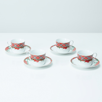 Holiday Garden Printed 24-Piece Dinner Set