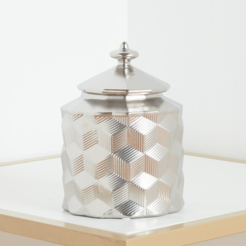 Beyonee Textured Decor Jar - 18x18x23 cms