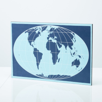 World Map Printed Cork Pinboard