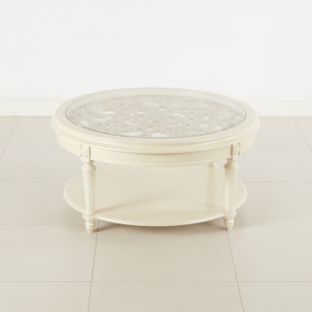 Kesha Coffee Table with Glass Top