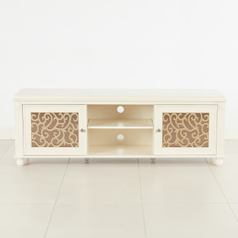 Kesha TV Unit with Carving Detail