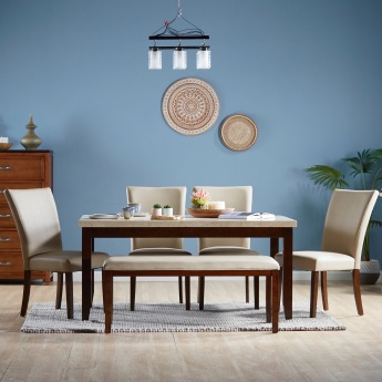 Ken 4-Seater Dining Set with Marble Top