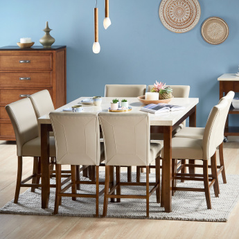 Ken 8-Seater Dining Set with Marble Top