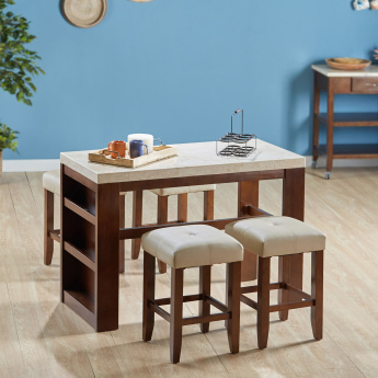 Ken 2-Seater Dining Set with Marble Top
