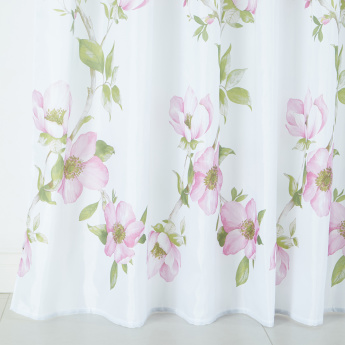 Oku Printed Eyelet Shower Curtain - 240x180 cms
