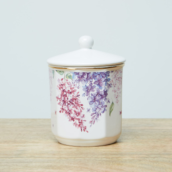 Monoun Floral Printed Cotton Jar