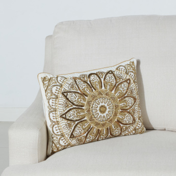 Palace Madallion Beaded Filled Cushion - 35x50 cms