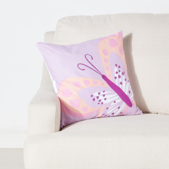 Sophia Butterfly Printed Filled Cushion - 45x45 cms