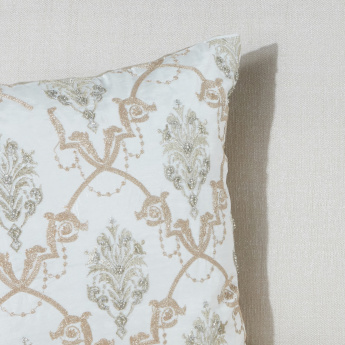 Antique Embroidered Cushion Cover - 45x45 cms