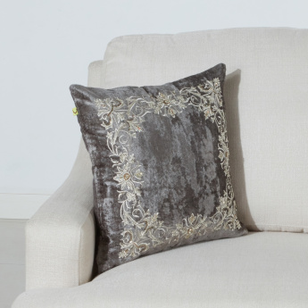 Emperor Embroidered Cushion Cover - 45x45 cms