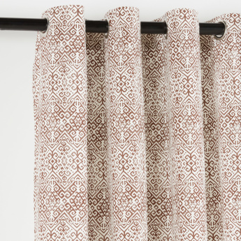 Aztec Printed 2-Piece Lined Curtain Set - 135x240 cms