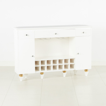 Cherise 3-Drawer Bar Counter with Marble Top