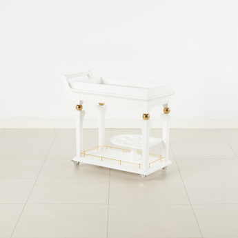 Cherise Serving Trolley with Marble Top