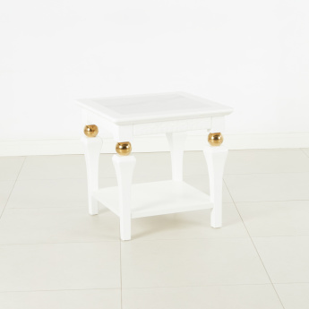 Cherise End Table with Marble Top