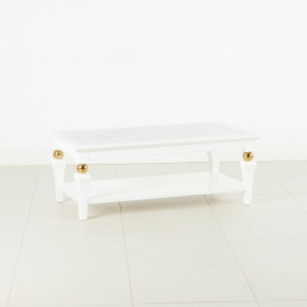 Cherise Coffee Table with Marble Top