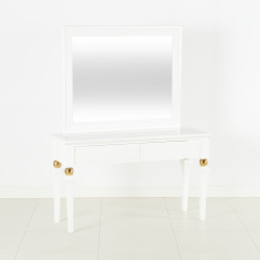Cherise 2-Drawer Console Table with Mirror