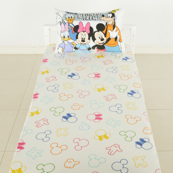 Mickey and Friends Printed Fitted Sheet - 120x200 cms