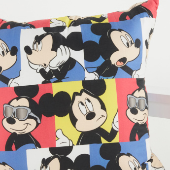 Mickey Mouse And Friends Printed Reversible Filled Cushion - 45x45 cms