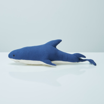 Sebastian Shark Shaped Printed Cushion - 48x22 cms