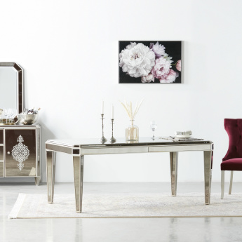 Jewel 6-Seater Dining Table with Mirror Top