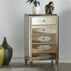 Jewel Decorative Chest of 5 Drawers