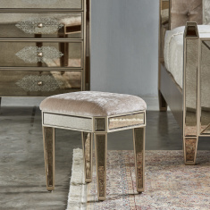 Jewel Mirrored Glossy Stool