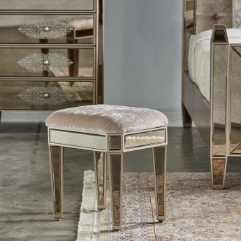 Jewel Mirrored Stool