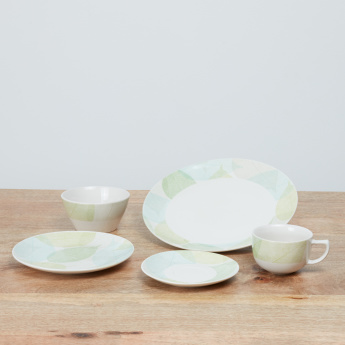 Nature Printed 20-Piece Dinner Set