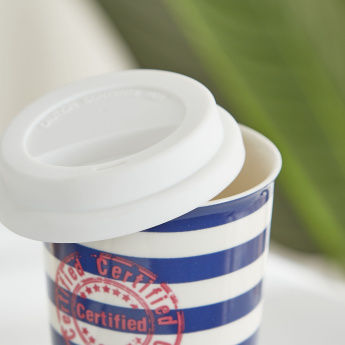 Bart Striped Sipper Mug with Lid - 420 ml