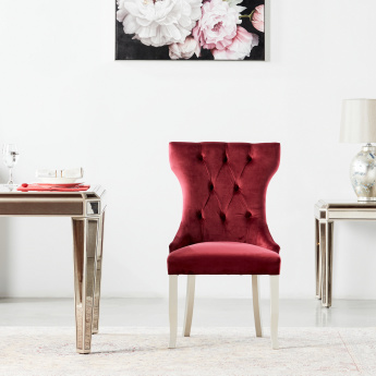 Jewel Velvet Tufted Armless Dining Chair