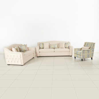 Mason Tufted 2-Seater Sofa with Scatter Cushions