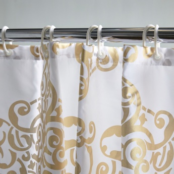 Awing Printed Shower Curtain - 240x180 cms