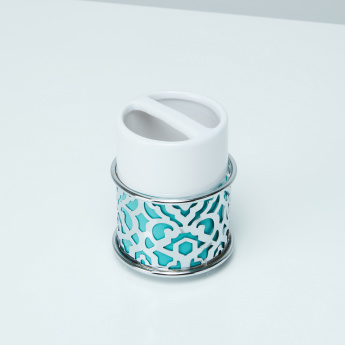 Bassa Toothbrush Holder with Metallic Cutout Detail