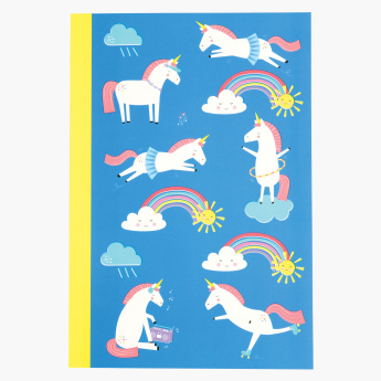 Magical Unicorn Printed A5 Notebook
