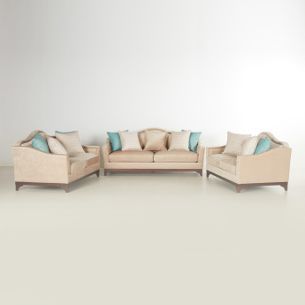 Mughal 7-Seater Sofa Set with Scatter Cushions